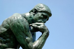 """Close up of The Thinker"" by Brian Hillegas. Creative Commons licence CC BY"