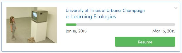 Screenshot: e-Learning Ecologies module in Coursera