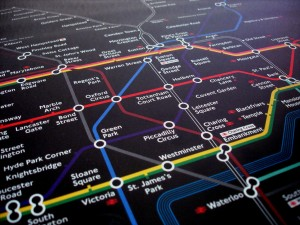 """Underground Tube Map"" by StreetFly JZ. Creative Commons licence CC BY-NC-ND"