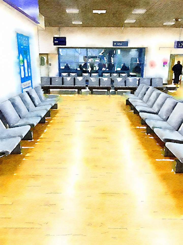 """Birmingham Airport Departure Lounge (gate 14/15)"" by David Hopkins. Creative Commons licence CC"