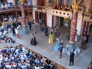 """The Merchant of Venice at Shakespeare's Globe Theatre"" by H M Cotterill. Creative Commons licence CC BY-NC-ND"